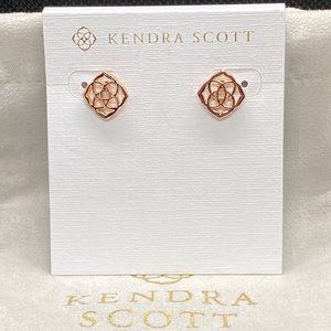 New Kendra Scott Rose Gold Dira Stud Earrings